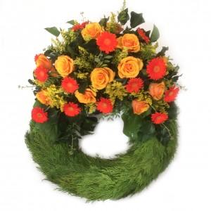 Bouquetkranz petit orange ø 60 cm