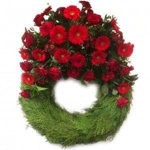Bouquetkranz rouge, ø 65 cm