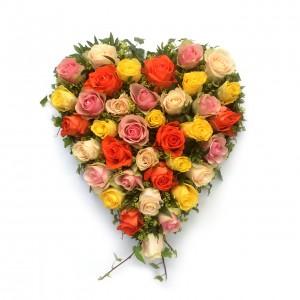 Blütenherz mit Rosen, Höhe 40 cm